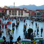 Lhasa, Tibet during sunset