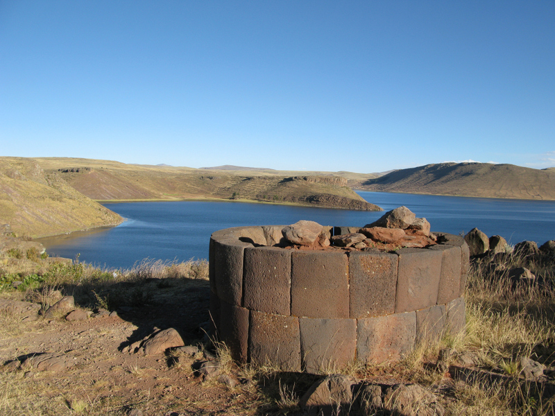 Chullpas or tower-like tombs of Sillustani