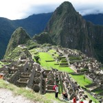 A relatively steep hike up Machu Picchu