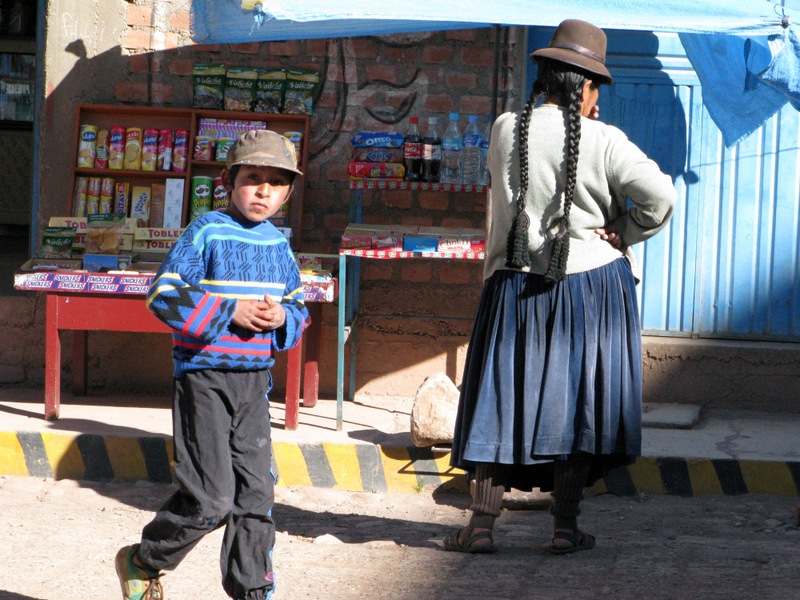 street vendor in Pucara, Peru