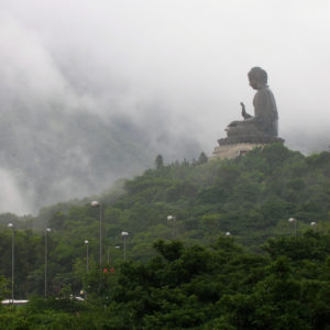 The Big Buddha or Tian Tan Buddha on the hilltop