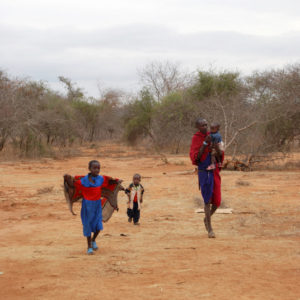 Water well drilling in Maasai village in rural Namanga, Kenya - photography by Jenny SW Lee