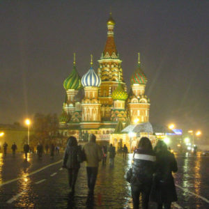 St. Basil's Cathedral in the rain