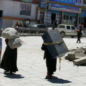 Dingri is about 4,300 metres above sea level or approximately 14,107 feet