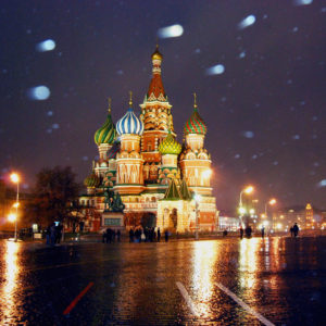 St. Basil's Cathedral in the snow