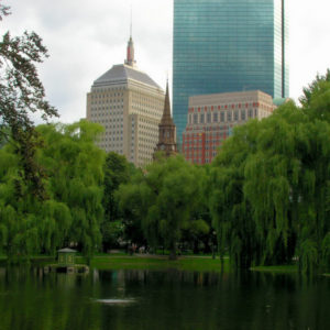 John Hancock tower, Boston Common, Frog Pond