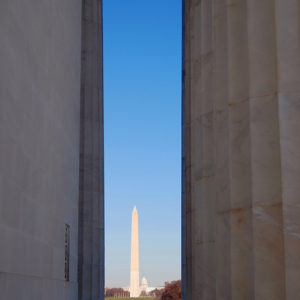 Lincoln Memorial and the Washington Monument.
