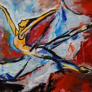 "Dancer - 9x12"" acrylic (Not Available)"