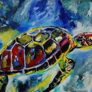 """Turtoise - 12x16"""" acrylic"""