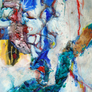 """Active Flow - 22x30"""" mixed media (Not Available)"""