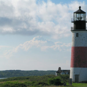 Nantucket lighthouse in Cape Cod