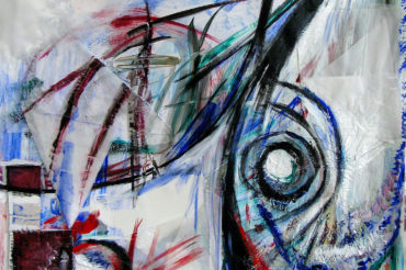 Madness - acrylic mixed media by Jenny S.W. Lee created in Artist-in-Residence Amsterdam