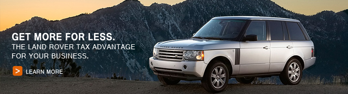 Website slider ad for Land Rover Peabody