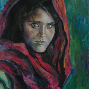 "The Afghan Girl - 14x17""  acrylic"