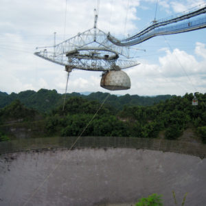 National Astronomy and Ionosphere Center. 305m radio telescope in Arecibo