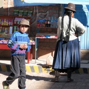 Street vendor in Puno, Peru