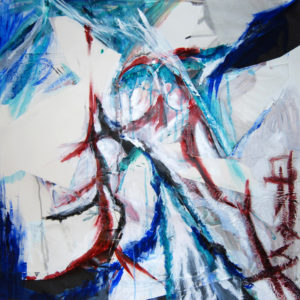 "Storm Peace - 33x33"" mixed media"
