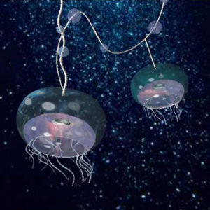 Jellyfish light fixture under water designed by Jenny S.W. Lee