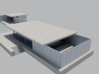 Barcelona Pavilion rendered by Jenny S.W. Lee