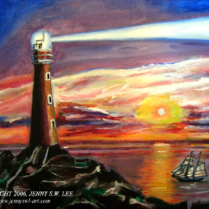 Lighthouse - acrylic