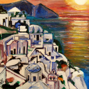 Santorini - acrylic
