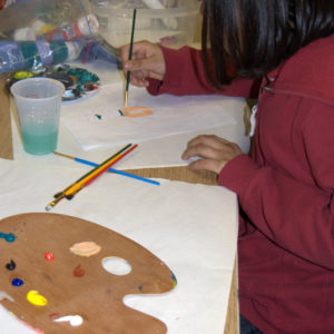 Afterschool art enrichment program at Salem Cyberspace