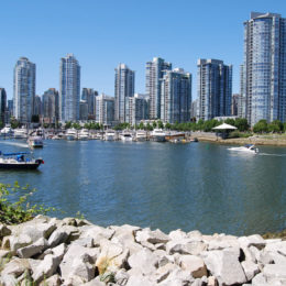 Along the Seawall in Stanley Park.