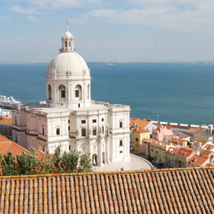 Church of Santa Engrácia taken from the Monastery of São Vicente de Fora (Sao Vicente de Fora), Alfama
