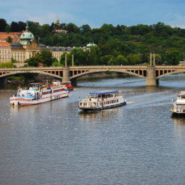 Vtava river and bridges