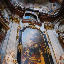 St. Nicholas Church on Lesser Town. Baroque construction. Prague, Czech Republic - photography by Jenny SW Lee