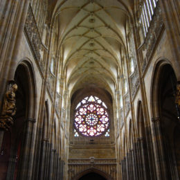 St. Vitus Cathedral. Gothic architecture. Prague, Czech Republic - photography by Jenny SW Lee