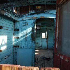 Abandoned caboose, Rhyolite, Nevada