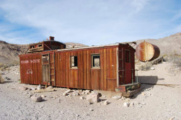abandoned caboose Rhyolite ghost town - photography by Jenny SW Lee