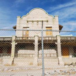 Rhyolite Casino ruins
