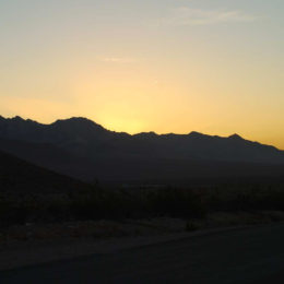 sunrise in Rhyolite