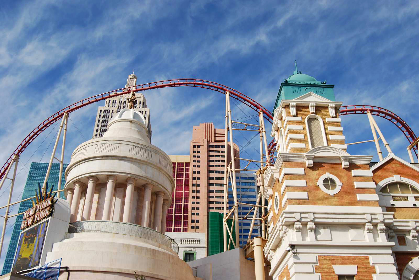 Roller coaster at Las Vegas - photography by Jenny SW Lee