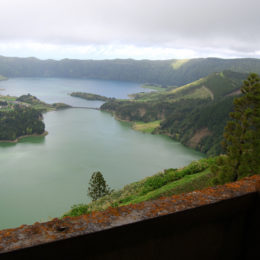 Sete Cidades Lagoon view  from Monte Palace