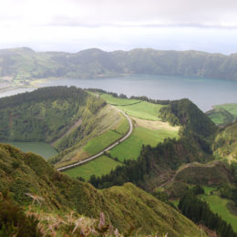 Boca do Inferno, Sete Cidades lagoon. Rasa and Santiago lagoons could be viewed from this overlook point too.
