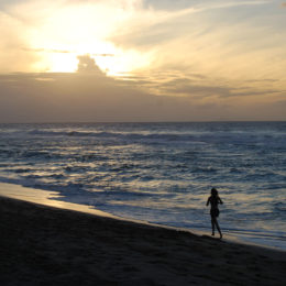 Sunset at Barking Sands Beach in Waimea