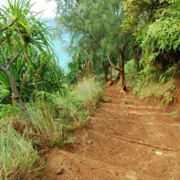 Kalalau Trail along Na Pali Coast