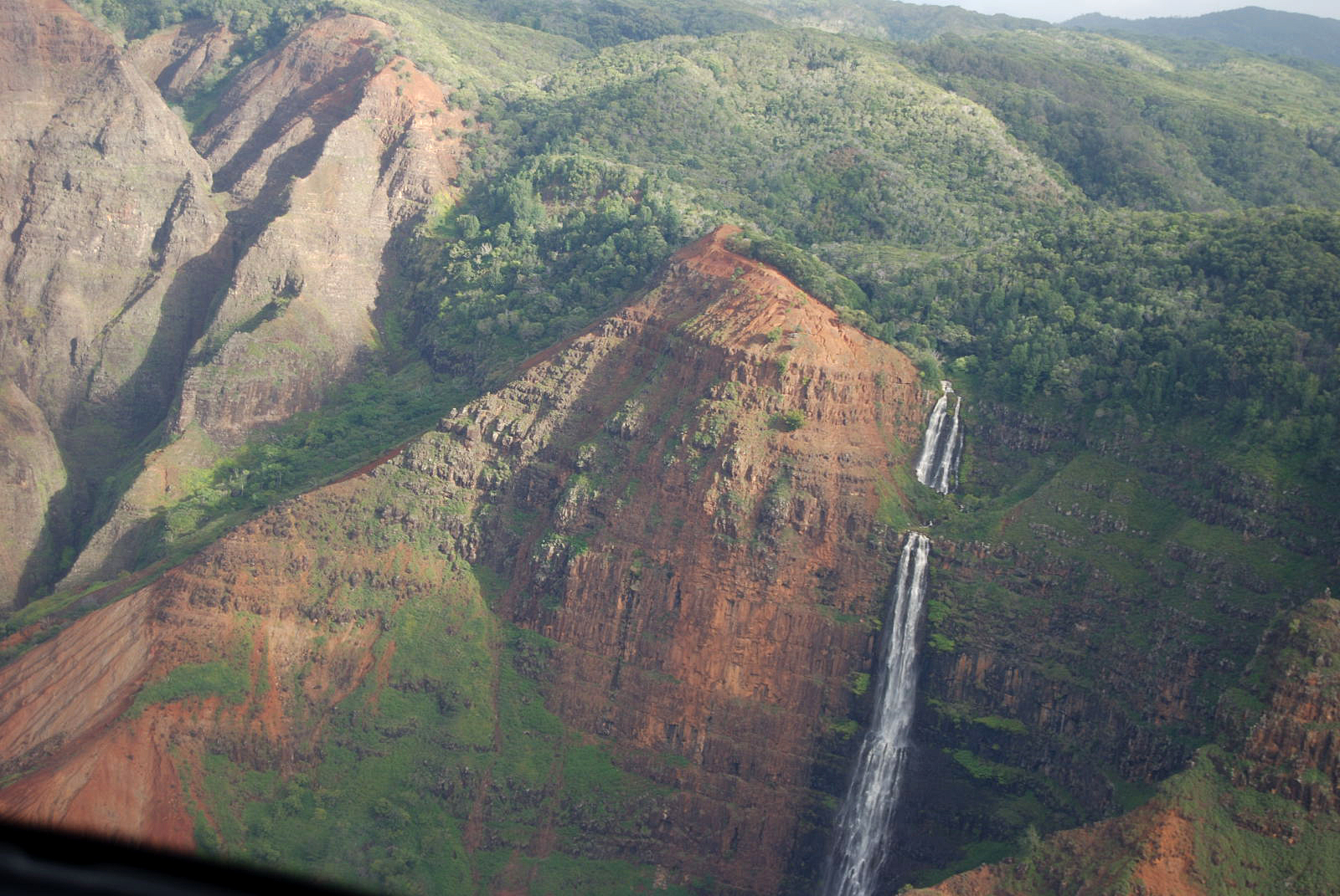 View of Kauai from the helicopter.
