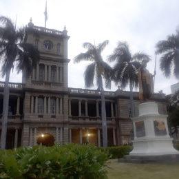 Hawaii State Supreme Court - Aliʻiolani Hale with King Kamehameha Statue