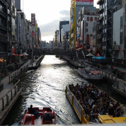 Sunset in Dotonbori