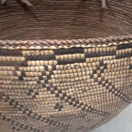 Coiled Cedar Root Basket