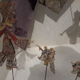 Chinese shadow puppet with three interchangeable heads