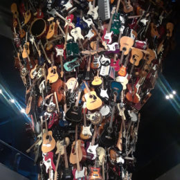 "About 700 instruments; ""if VI was IX"" sculpture by Trimpin"