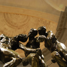 """The Three Shades"" sculpture by Auguste Rodin"