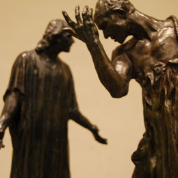 "Five reductions from ""The Burghers of Calais"". Sculpture by Auguste Rodin"