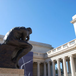 """The Thinker"" sculpture by Auguste Rodin in Legion of Honor Museum"